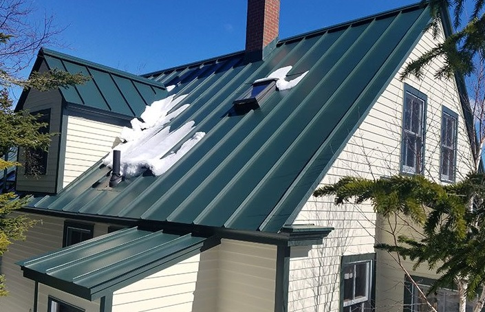 Green metal roof installed my whiteout group