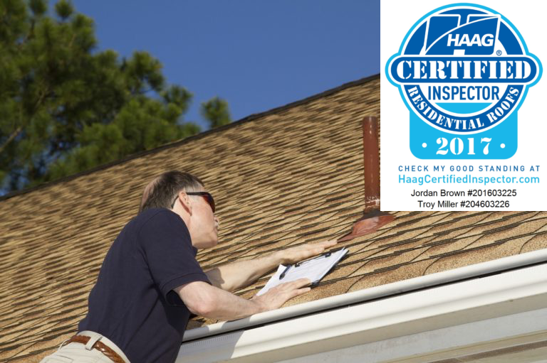 Roof inspection with HAAG certification