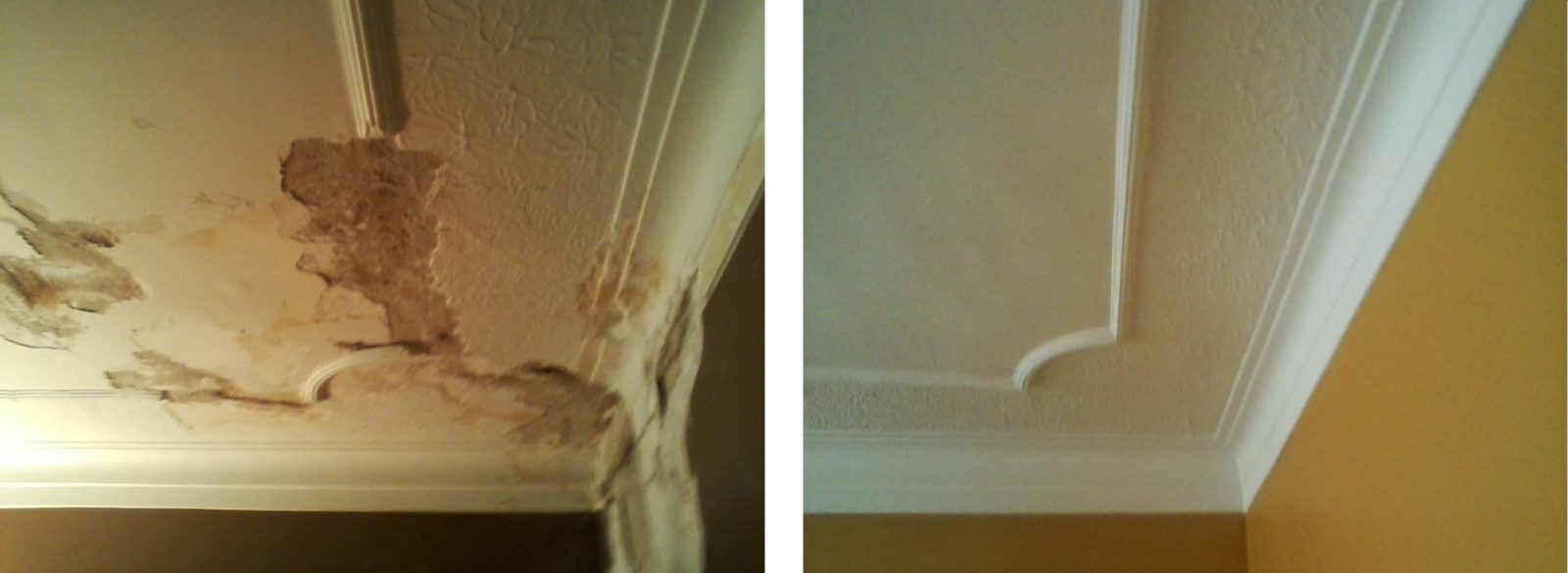 Water damage repaired